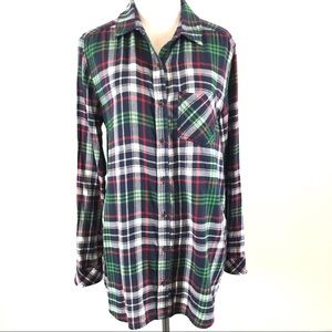 BP Nordstrom's Brushed Cotton Button Down Tunic M